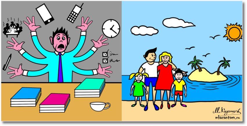 Можно ли снять стресс?|Рисунки и инфографика Михаила Казанцева