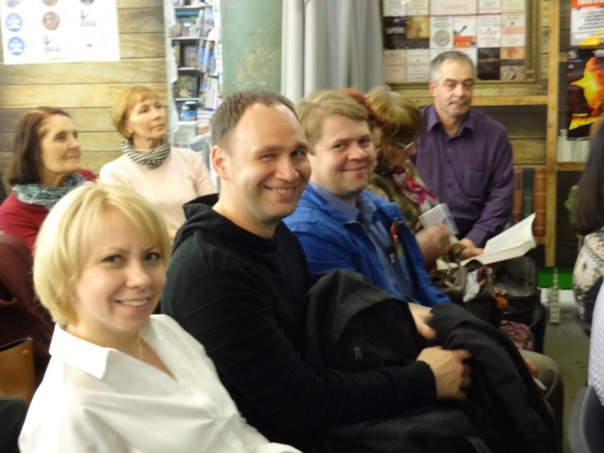 Аудитория на лекции Михаила Казанцева