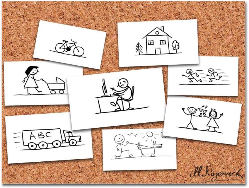Михаил Казанцев|Рисунки и инфографика|Примеры рисунков с помощью шести базовых фигур