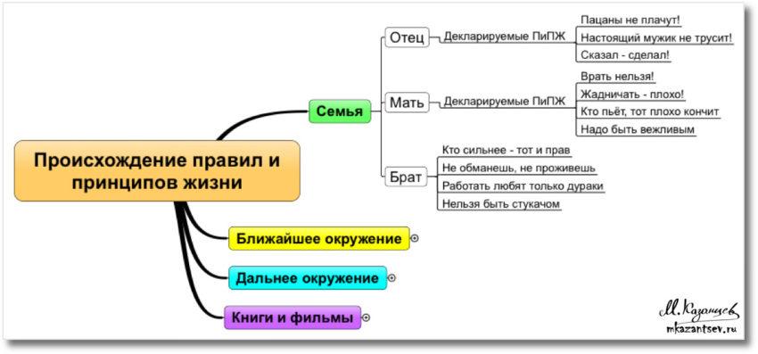 Перечень декларируемых праивл и принципов жизни|Инфографика Михаила Казанцева