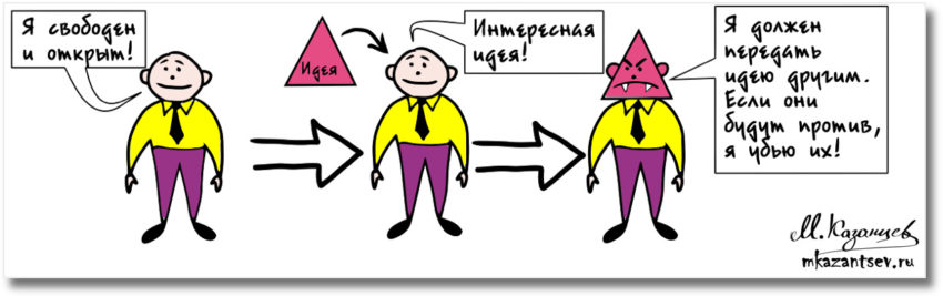 Идеи, как вирусы|Рисунки Михаила Казанцева