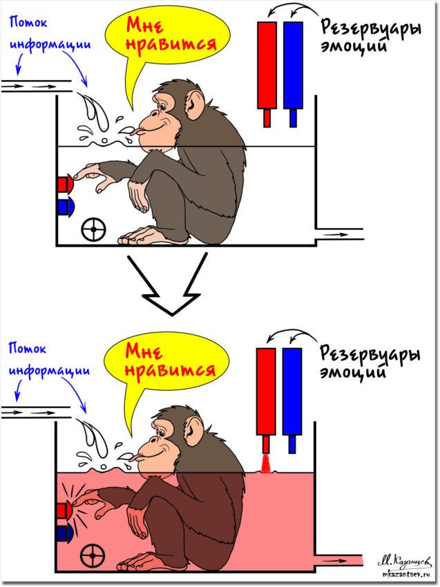 Положительные и отрицательные эмоции в общении | Рисунки Михаила Казанцева
