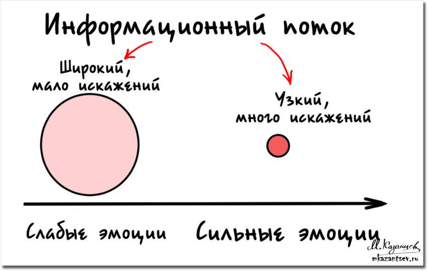 Эмоции | Влияние на восприятие информации | Рисунки и инфографика Михаила Казанцева